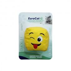 EuroCat Kedi Oyuncağı Dil Cıkaran Smiley Küp 6 cm