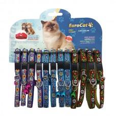 EuroCat Kedi Boyun Tasması Ciçek Des.10mm28cm (12 Li)