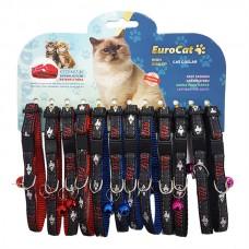 EuroCat Balık Desenli Cıngıraklı Kedi Boyun Tasması 12'li