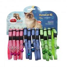 EuroCat Kedi Boyun Tasması Ekose Des.10mm28cm (12 Li)