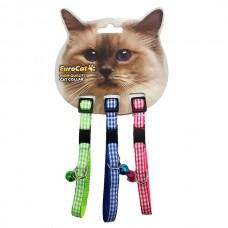 EuroCat Kedi Boyun Tasması Ekose Des.10mm28cm (3 Lü)