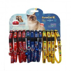 EuroCat Kedi Boyun Tasması Bayrak Des.10mm28cm (12 Li)