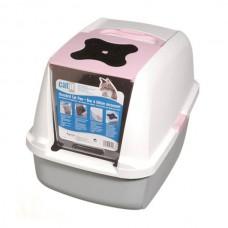 Catit Kapalı Kedi Tuvalet Kabini Pembe (57x46,5x39)